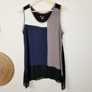 Lane Bryant PLUS Color Block Sleeveless Blouse